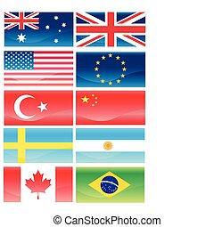 zászlók, ofl, országok