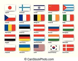 zászlók, vektor, állhatatos