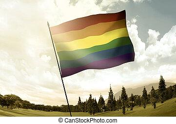 zászlórúd, buzi, hegy