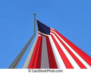 zászlórúd, deformálódott