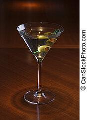 zátiší, o, martini.