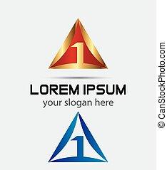zählen, 1, schablone, logo, ikone