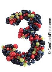 zählen 3, gesunde