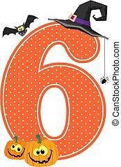 zählen 6, halloween