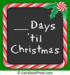 zählen, bis, weihnachten, tage