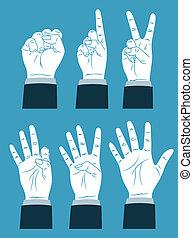 zählen, hand