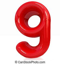 "zählen neun, ""9""-"