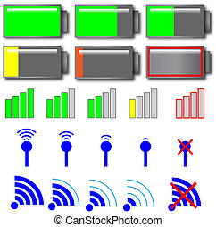 zählewerke, indikator, vektor, verschieden