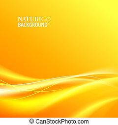 zärtlich, orange, abstrakt, licht, hintergrund.