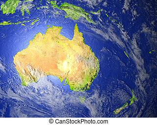 zélande, australie, réaliste, la terre, nouveau modèle