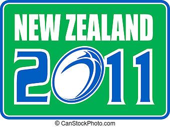 zélande, nouveau, balle, rugby, 2011
