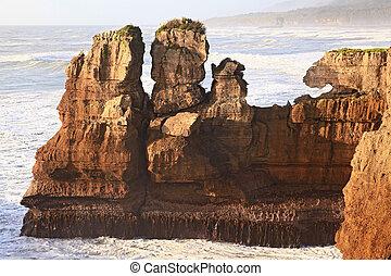 zélande, nouveau, canyon, grandiose