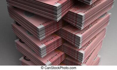 zélande, nouveau, dollar, pile