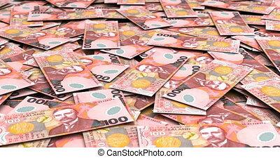 zélande, nouveau, dollars, pile