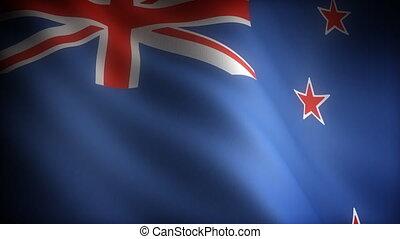 zélande, nouveau, drapeau, (seamless)