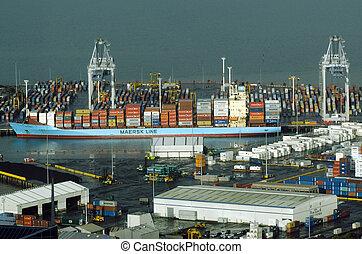 zélande, nouveau, nz, ports, auckland