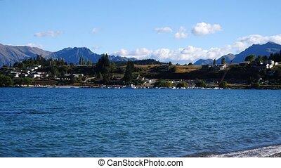 zélande, nouveau, wanaka, lac