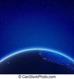 zélande, ville, australie, lumières, nouveau, est
