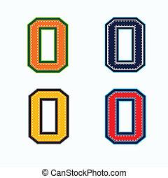 zéro, collège, style, nombre