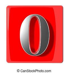 zéro, nombre, icône