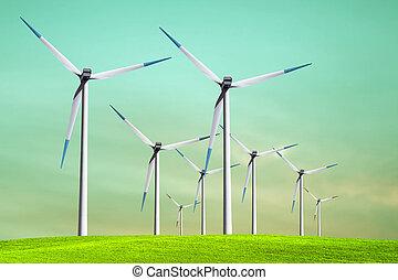 zöld, ökológia