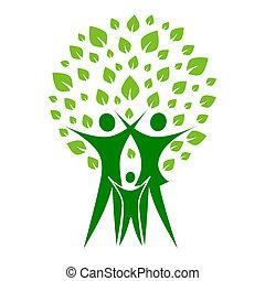 zöld, család