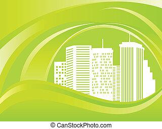 zöld, eco, város