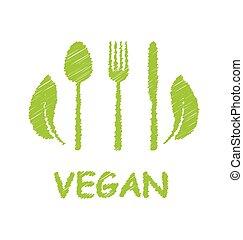 zöld, egészséges táplálék, ikon
