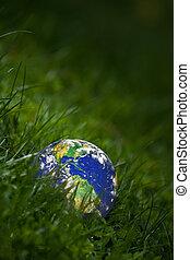 zöld földdel feltölt, fogalom