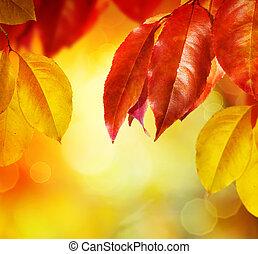 zöld, fall., ősz