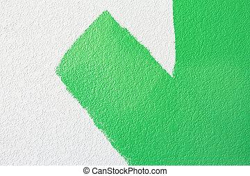 zöld festmény