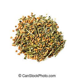 zöld, genmaicha, japán, tea