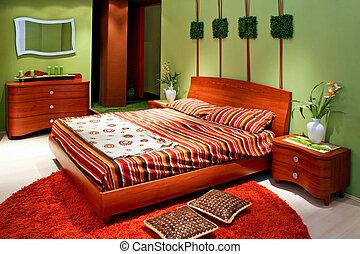 zöld, hálószoba