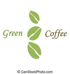 zöld, kávécserje, white fej, három