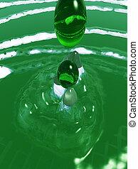 zöld, loccsanás