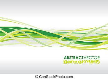 zöld, megvonalaz, spirál