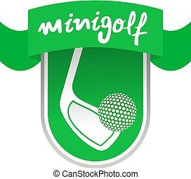 zöld, minigolf, szalag
