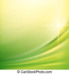 zöld, selyem, háttér