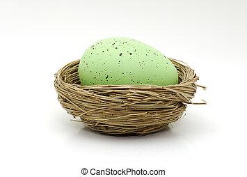 zöld, tojás