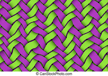 zöld, -, twill, háttér, ibolya