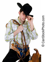 zügel, cowboy, pferdesattel