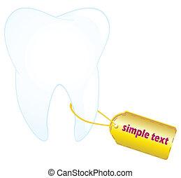 ząb, etykieta