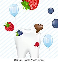 ząb, i, guma do żucia