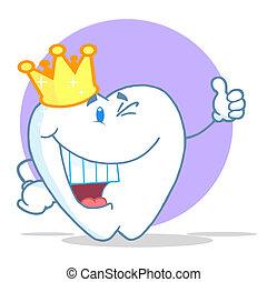 ząb, litera, koronowany