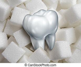 ząb, słodki