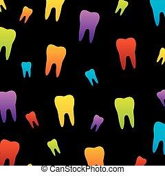 ząb, tapeta, dentysta