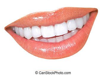zęby, kobieta