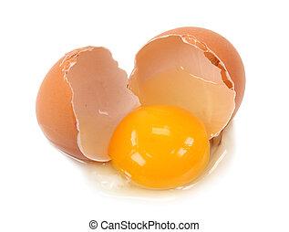 złamane jajko