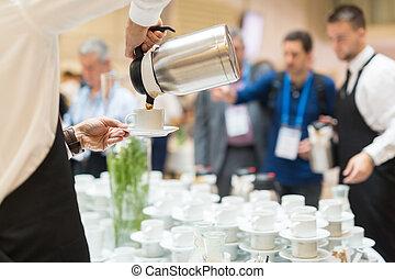 złamanie, konferencja, kawa, meeting.