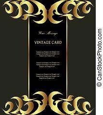 złota karta, kwiatowy, adamaszek, rocznik wina